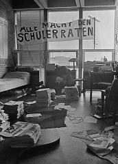 Spruchband Alle Macht den Schülerräten 1969 © Holger Rüdel