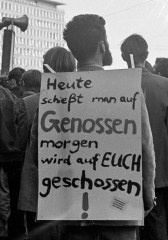 Demonstration am 13.4.1968 in Kiel nach dem Attentat auf Rudi Du
