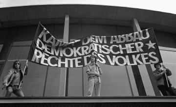 Kundgebung der Sozialistischen Studentengruppe (SSG) Hamburg 1972 © Holger Rüdel