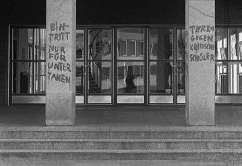 Parolen an der Kieler Gelehrtenschule 1968 © Holger Rüdel