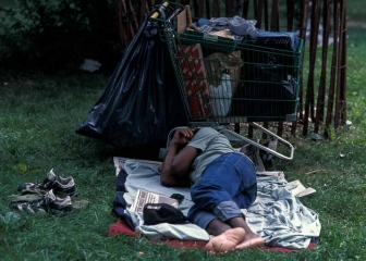 Obdachloser in New York © Holger Rüdel