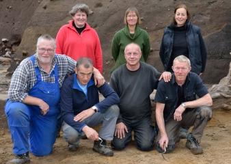 Ausgrabungen am Tor des Danewerks 2013 - das Grabungsteam © Holger Rüdel