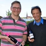 David Doubilet trifft die Veranstalter des Schleswiger Weinfestes © Holger Rüdel