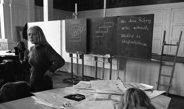 Protest bei Aufnahmeprüfung an Kunsthochschule Hamburg 1971 © Holger Rüdel
