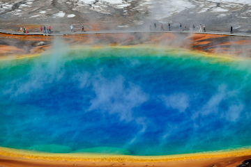 Grand Prismatic Spring im Yellowstone National Park © Holger Rüdel