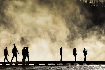 Besucher im Yellowstone National Park © Holger Rüdel
