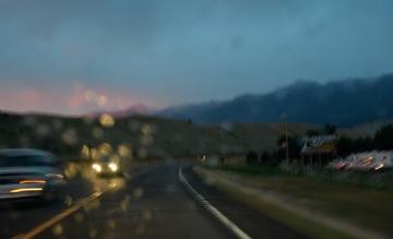Auf dem Highway 89 in Montana, USA © Holger Rüdel