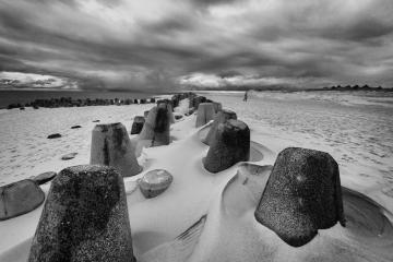 Hörnum-Odde auf Sylt mit Tetrapoden © Holger Rüdel