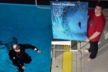 Tauchaktion für David-Doubilet-Ausstellung © Holger Rüdel
