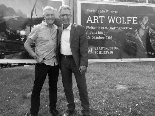 Art Wolfe und Holger Rüdel © Rainer Danne
