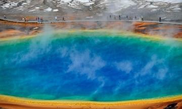 Yellowstone National Park Grand Prismatic Spring © Holger Rüdel