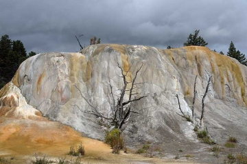 Yellowstone National Park Mammoth Hot Springs Orange Spring © Holger Rüdel