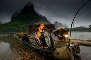 Night Fishermen, Li River, Guangxi, China