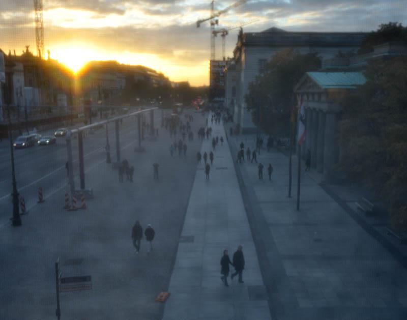 Making of: Berlin Unter den Linden im Herbst