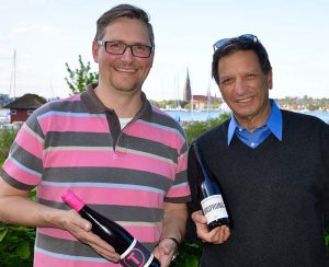 David Doubilet trifft die Veranstalter des Schleswiger Weinfestes 2014 © Holger Rüdel