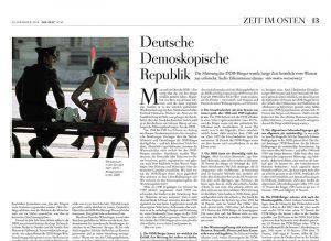 """Artikel in """"Die Zeit"""" vom 30.10.2014 mit Foto von Holger Rüdel"""
