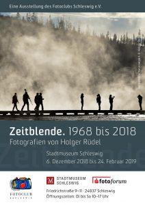 """Ankündigung Ausstellung """"Zeitblende. 1968 bis 2018. Fotografien von Holger Rüdel"""""""