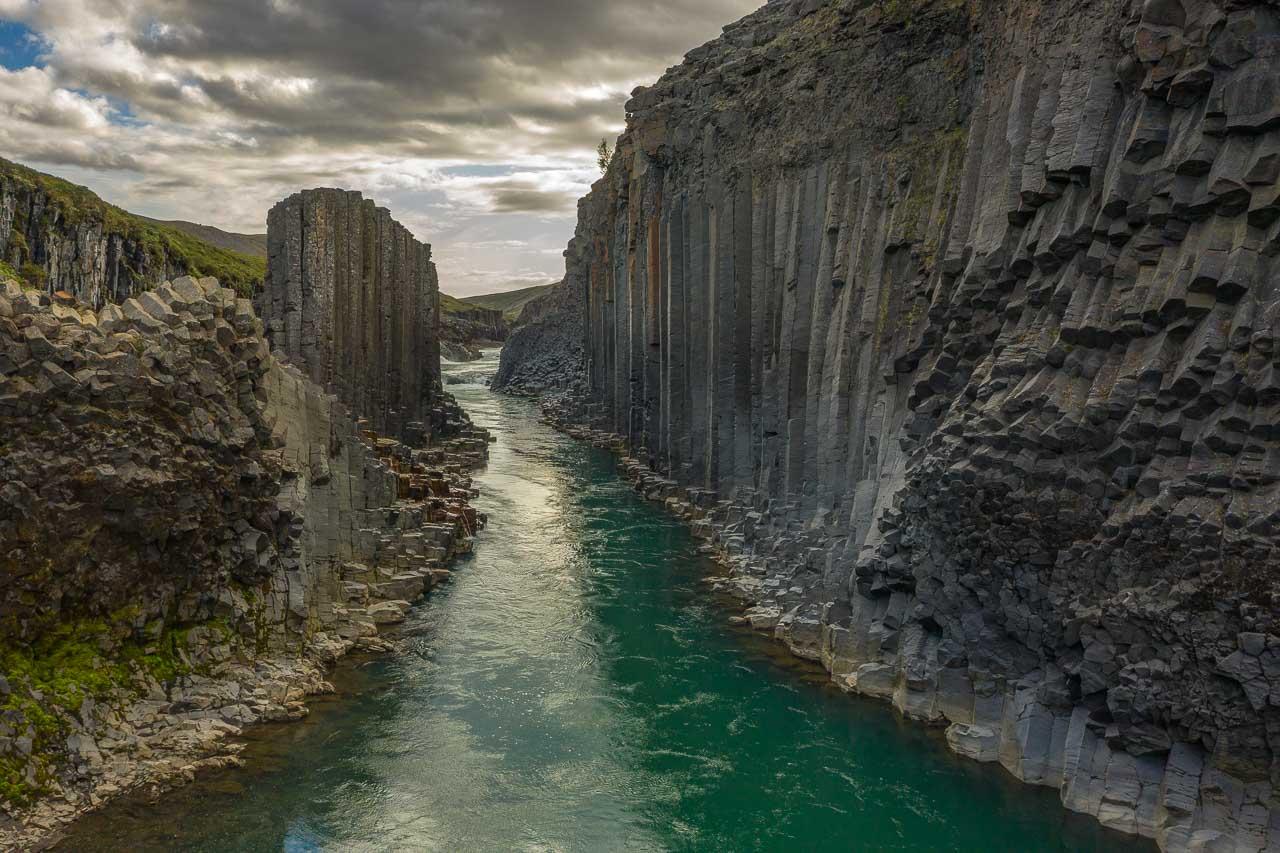 Island. Stuðlagil