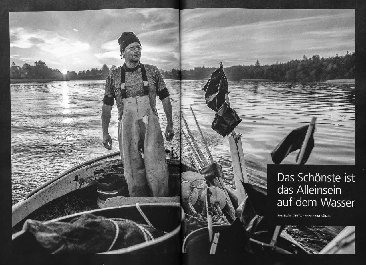 """""""Das Schönste ist das Alleinsein auf dem Wasser."""" [Mohltied!] im Gespräch mit den Fischern Matthias Nanz und Jörn Ross vom Holm in Schleswig. Text: Stephan Opitz, Fotos: Holger Rüdel"""