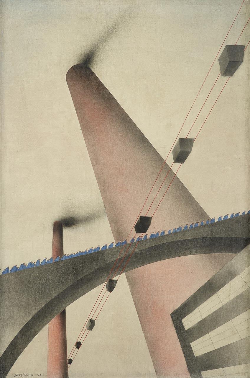 Oskar Nerlinger: An die Arbeit, 1930, Kulturstiftung Sachsen-Anhalt, Kunstmuseum Moritzburg Halle (Saale) © S. Nerlinger Foto: Punctum/Bertram Kober