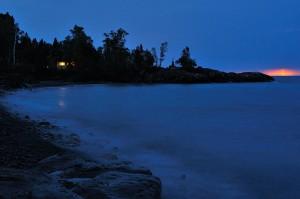 Nächtliche Blitze über dem Lake Superior © Holger Rüdel