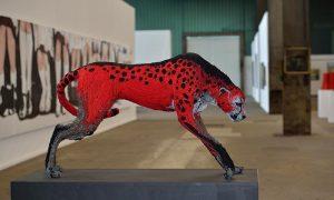 NordArt 2014 Kunstwerk Carlshütte: Gepard von Nevena Vuksanovic aus Serbien © Holger Rüdel