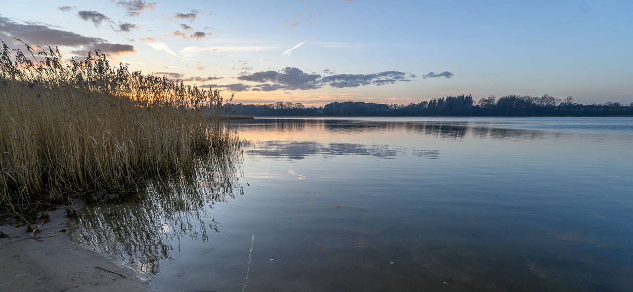 Am Ufer des Selker Noores im Winter. Das Selker Noor ist eine seeartige Bucht der Schlei südlich von Schleswig. Nikon Z 7, Nikkor Z 14-24mm f/2,8 S (14 mm, f/4, ISO 64).
