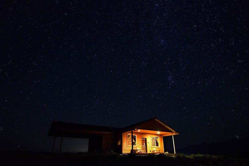 Sternenhimmel über dem Yellowstone River © Holger Rüdel www.holger-ruedel.de