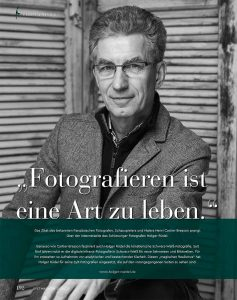 Der Fotograf Holger Rüdel: Sylt Magazin 2019/2020, Seite 192. Porträt © Henrik Matzen