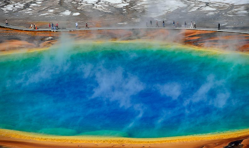 Yellowstone National Park Grand Prismatic Spring © Holger Rüdel