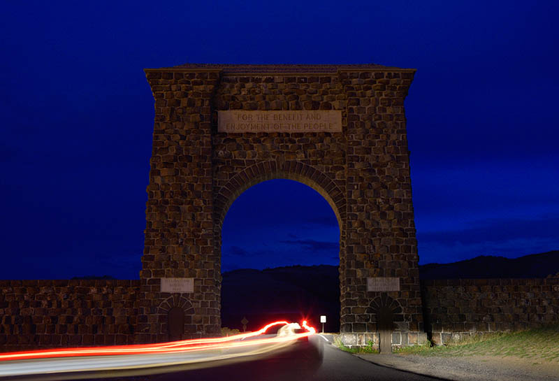 Roosevelt Arch, das Tor zum Yellowstone Nationalpark